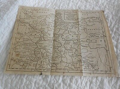 Antique Map of Upper Saxony comprehending that Part of Germany, Present Seat War