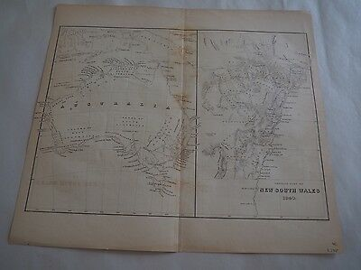 "Antique Map, ""Settled Part of New South Wales 1840"", Charles Wilkes"
