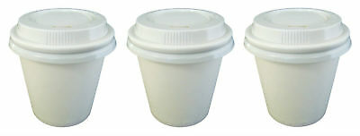 500 Sets x 4oz WHITE Single Wall  Coffee Cups And Lids 118ml Paper Disposable