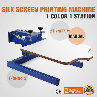 1 Color 1 Station Silk Screen Printing Machine Manual Glass Wood Cutting Printer
