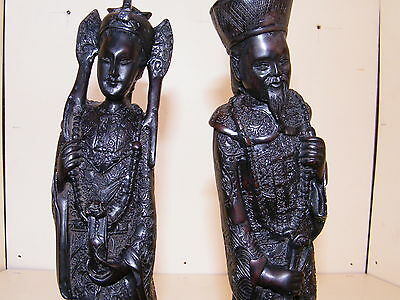 Chinese Emperor And Empress Statue's
