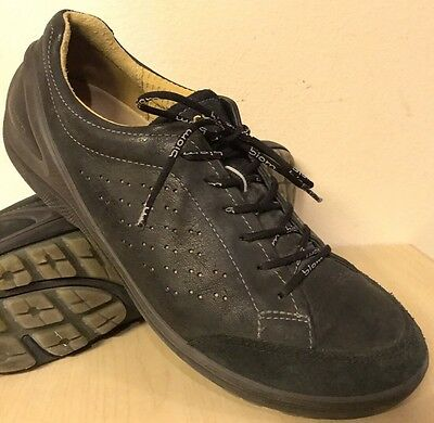 ECCO BIOM Black Leather Oxfords Sneakers Shoes Men's Size 44 / 10 - 10.5