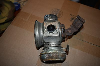 Vintage Hine Watt prewar Bicycle light old oil bike light TOC