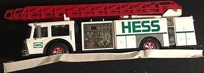 Hess White Toy Fire Truck with Dual Sound Siren 1989 in Box