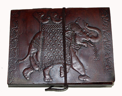 Zap Impex Handmade Leather Diary Journal Notebook with Elephant Shape Cover (Siz