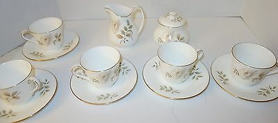 5 EACH Royal Doulton England Yorkshire Rose Tea Cups/Saucers w/ Creamer & Sugar