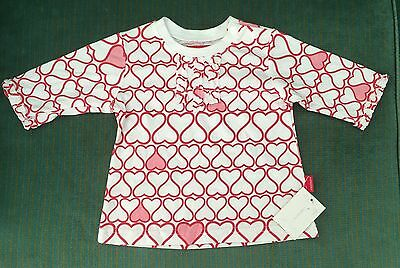 Girls Heart Fred Bare 3/4 Sleeve Top Size 0 Cute Baby BNWT new