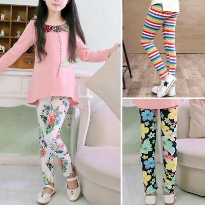 Baby Kid Girl Leggings Floral Pants Toddler Infant Butterfly Soft Trousers 2-13Y