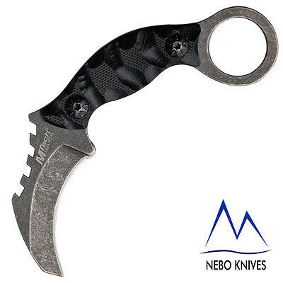 MTech Karambit Neck Knife 440 Stainless Blade G-10 Handle MT2033