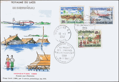 Flood victims in Laos -FDC(I)-I-