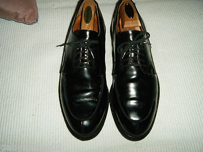 Johnston&Murphy Dress Passport Oxford Black Leather Shoes Made in ITALY Size 9 M