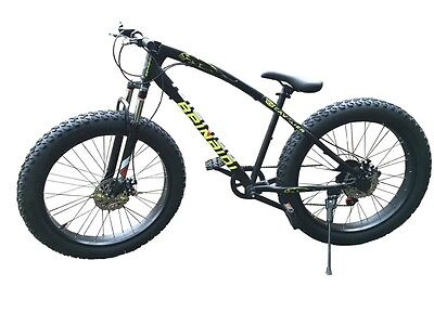 """Fat bike black men's 26"""" by 4""""Brand New with disc brakes"""