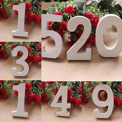 Promotion White Wooden Number 0-9 Bridal Wedding Birthday Party Home Decor X&^!