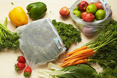 NEW Set 5 D-Line Mesh Eco Reusable Produce Bags Keeps Produce Fresher