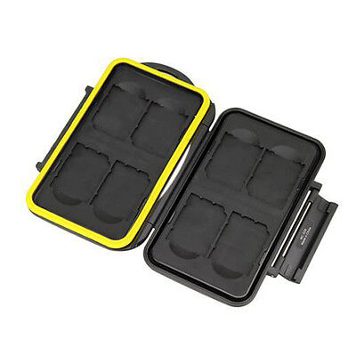 Waterproof Holder Anti-shock Storage Memory Card Case For 8 SecureDigital SD