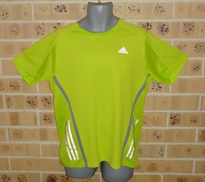 New Mens Adidas Supernova Climalite Large Mens Running Top Dayglo Yellow