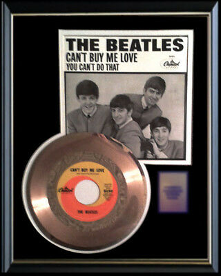 Beatles Can't Buy Me Love Rare Gold Record Award Disc 45 Rpm & Sleeve