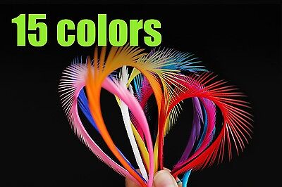 60Pcs/Lot 15 Assorted Colors Goose Biots Feather Fly Tying Materials Tails Wings