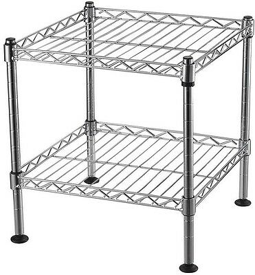 Wire Shelving Unit 2-Shelf Storage Adjustable Shelves 170 lbs. Capacity Chrome