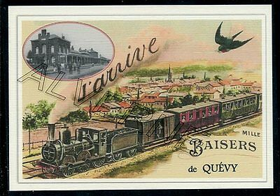 QUEVY  ..... train   souvenir  creation moderne serie limitee numerotee