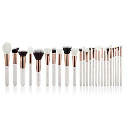 25Pcs Complete Makeup Brushes Set Powder Blusher Foundation Liner Brow RoseGold