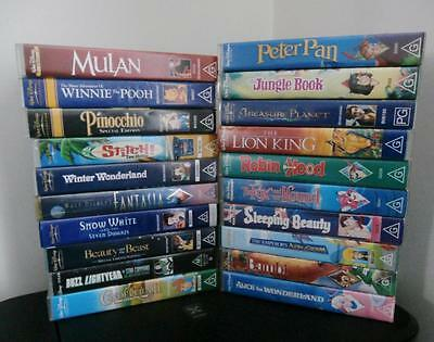 Walt Disney VHS Collection - All Movies, Snow White, Beauty and the Beast + MORE