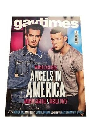 Gay Times Magazine May 2017 Andrew Garfield / Russell Tovey / Steps