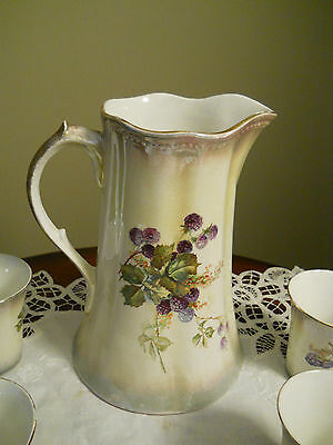 Antique Pitcher & Cup Set Circa 1880's Made by Sterling Porcelain Co