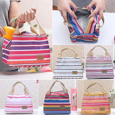 Lady Girls Thermal Portable Box Insulated Cooler Lunch Carry Tote Storage Bag @!