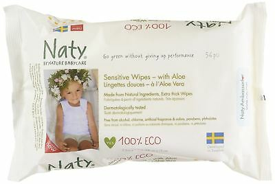 Nature Babycare Eco-sensitive Wipes with Aloe Fragrance-Free 56 Ct (Pack of 12)
