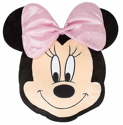 New Super Soft Minnie Mouse Cushion / Pillow Girls Kids Child Pink Bedroom Gift
