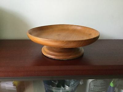 Wooden Footed Bowl/stand For Decoupage Or Crafting/project
