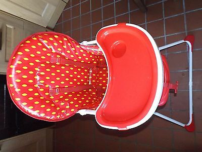 Mothercare strawberry themed highchair