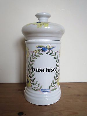 French apothecary pharmacy jar 'Haschisch'
