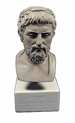 Zeus sculpture ancient Greek God king of all gods museum reproduction statue gb