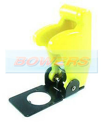 12V 24V Yellow Flip Up Aircraft Missile Style Toggle Flick Switch Cover Guard