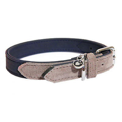Rosewood Luxury Leather Designer Soft Touch Navy Dog Collars Leads Size Choice