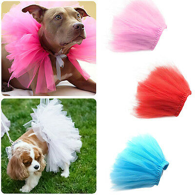 Pet Puppy Dog Cat Cute Tulle Skirt Princess Cosplay Tutu Dress Clothes Costume