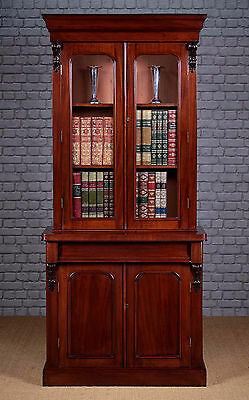 Antique Mid 19th.c. Mahogany Bookcase c.1870.