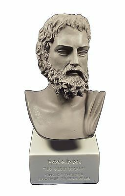 Poseidon sculpture ancient Greek God of the sea Neptune museum reproduction gb