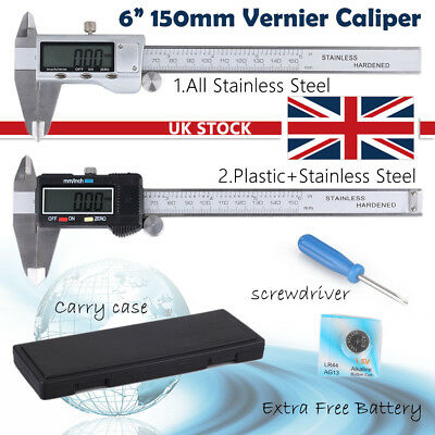 "LCD 6"" 150mm Digital Vernier Caliper Micrometer Gauge Accurate Measurement Tool"