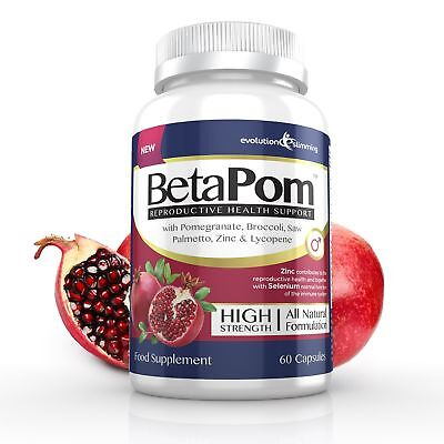BetaPom Prostate Supplement with Pomegranate, Zinc & Plant Sterols (60 Capsules)