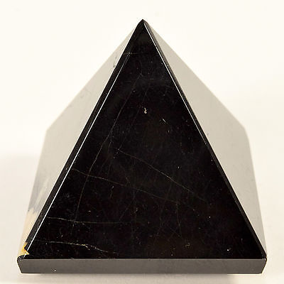 "2"" Natural Black Tourmaline Pyramid Polished Schorl Crystal Mineral Stone Africa"