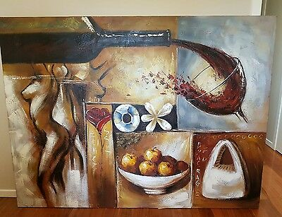 painting on large canvas