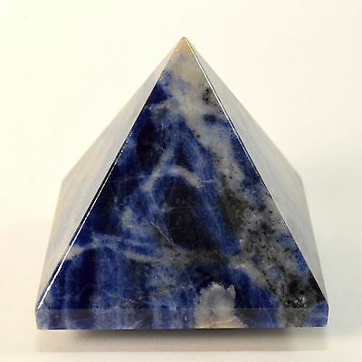 48mm Natural Blue Sodalite Pyramid Polished Gemstone Crystal Mineral from Africa