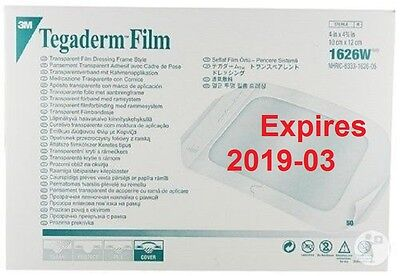 3M Tegaderm Transparent Film Dressing Frame Style 1626W (4x4.75in) pack of 20