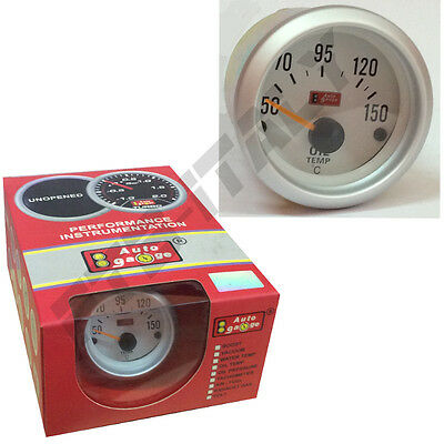 "Manometro temperatura olio 2"" mm52 bianco tuning Auto Gauge FTB"