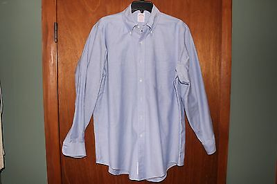 Men's Brooks Brothers The Original Polo Shirt Traditional Fit Blue Size 16-33