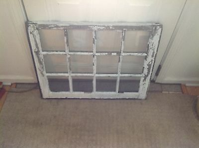Vintage Sash Antique Wood Window Picture Frame Shabby Chic 12 Pane Farmhouse