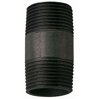 "1/2"" Barrel Nipple Black Malleable Iron Pipe Fitting BSP"